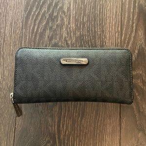 Michael Kors Monogram Leather Wallet Silver